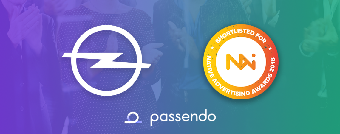 Opel & Passendo is shortlisted for the 2018 Native Advertising Award